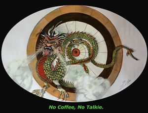 No Coffee Dragon - Ziana de Bethune - Fine Art.