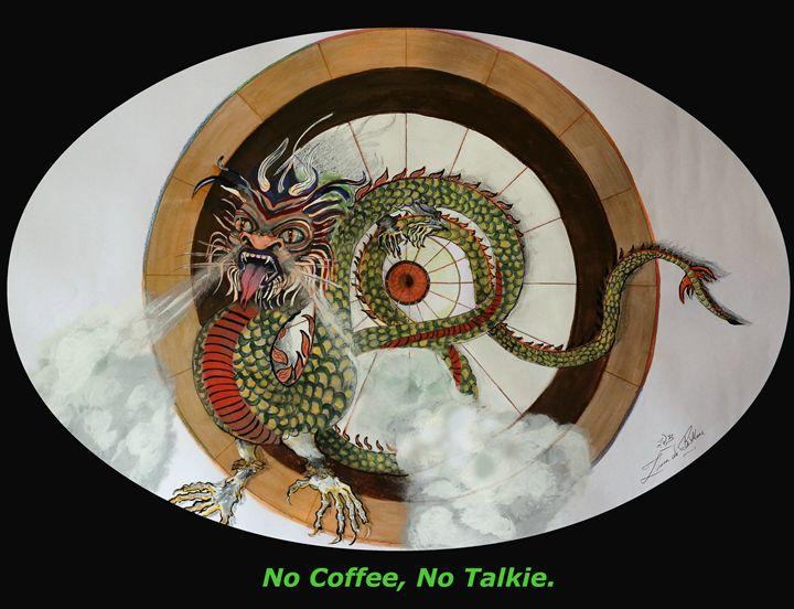 No Coffee Dragon - Ziana de Bethune - Fine Art.