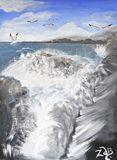 The Big Splash-Waves crashing.