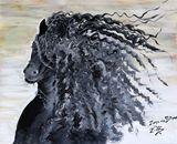 Original Painting-Friesian Horse