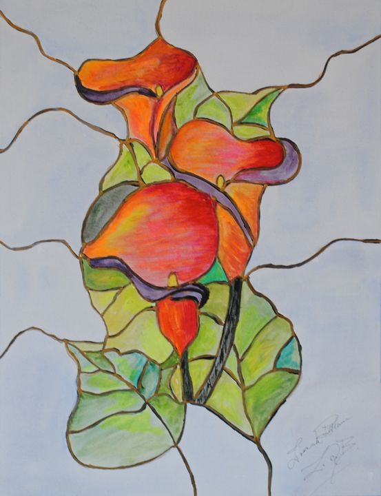 Stained Glass Calla - Ziana de Bethune - Fine Art.
