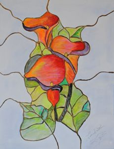 Stained Glass Calla