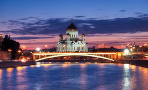 Moscow and the Cathedral of Christ