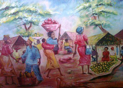 African Market Scene - Chembx