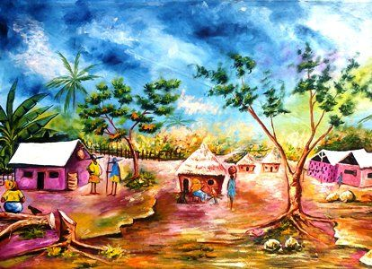 African Village Scene - Chembx