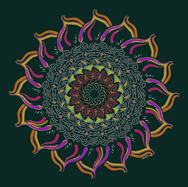 Pastel Flower Mandala - BC Designs