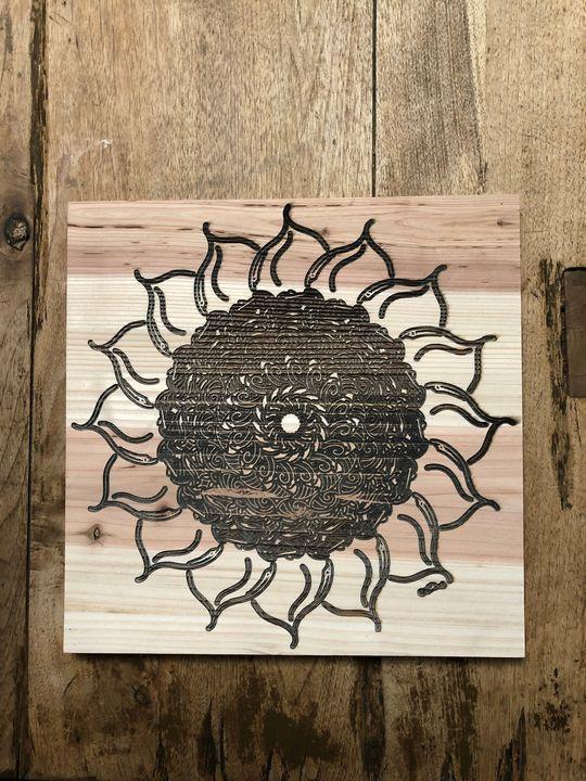Flower Mandala Engraved - BC Designs