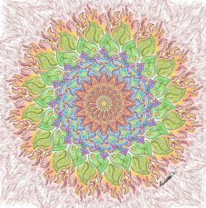 Colored Fire Mandala - BC Designs