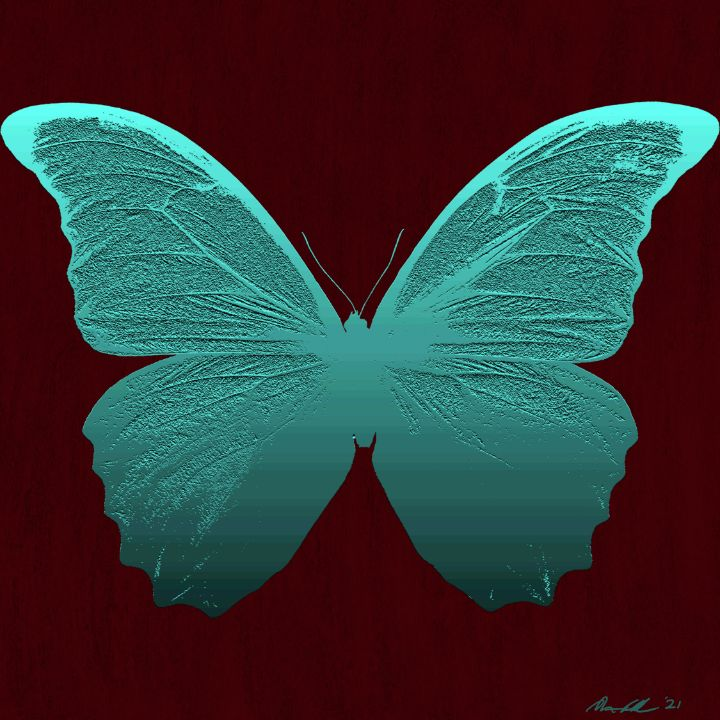 Teal Butterfly - BC Designs