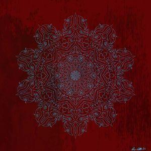 Red Blue Mandala