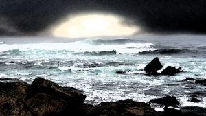 Waves at Spanish Bay