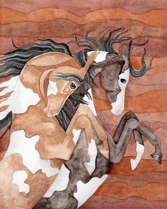 Rearing Paints On Terra Waves - Suzy Joyner
