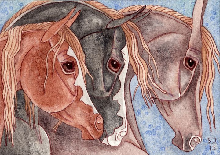 Herd On Lapis Lazuli - Suzy Joyner