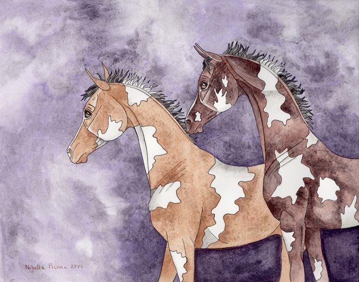 Foals On Amethyst - Suzy Joyner