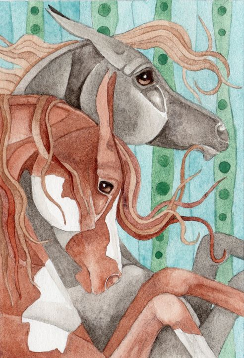 Paint And Gray On Stripe - Suzy Joyner
