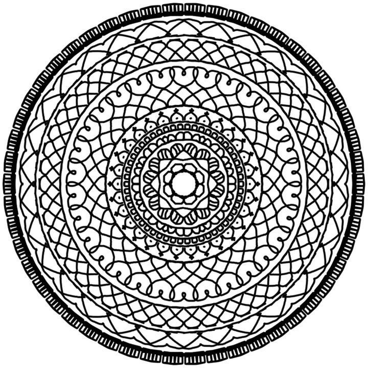 Black and White Mandala - RoshStocks