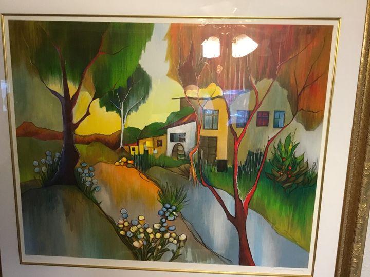 Autumn in the Country Itzchak Tarkay - VanBrucklyn Art