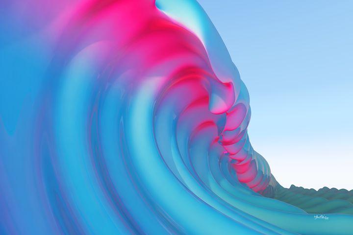 Hot Pink Curls - The Art of Joseph Alexander Wraith