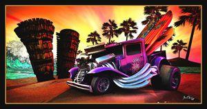 Hot Rod Beach - The Art of Joseph Alexander Wraith