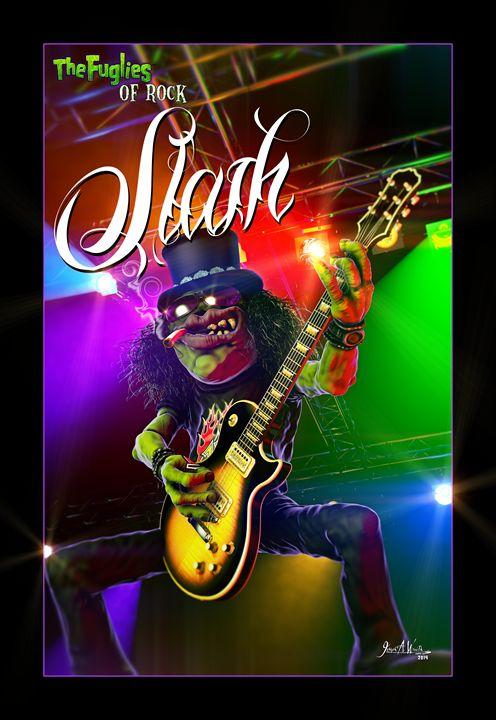The Fuglies of Rock - Slash - The Art of Joseph Alexander Wraith