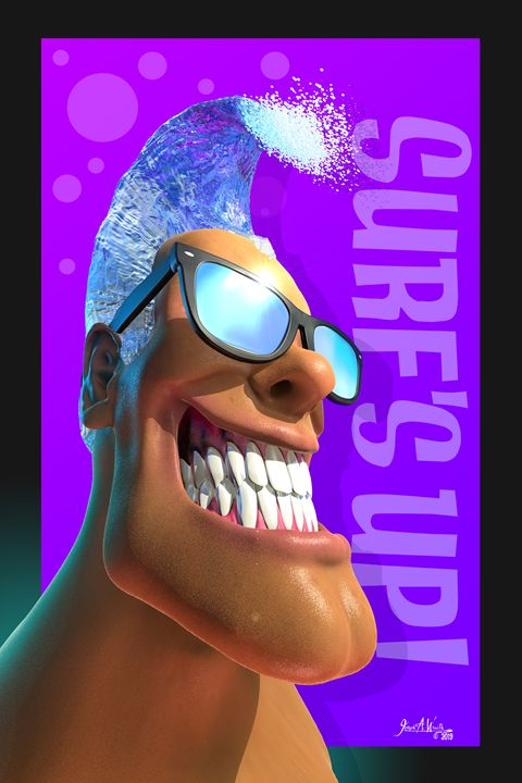Beached Heads  - Surf's Up! - The Art of Joseph Alexander Wraith
