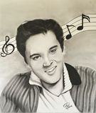 Charcoal Portrait of Elvis