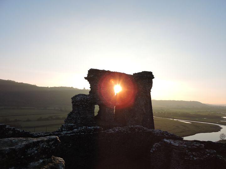 Dryslwyn Ruin Sunset - Anna Cartwright Photography