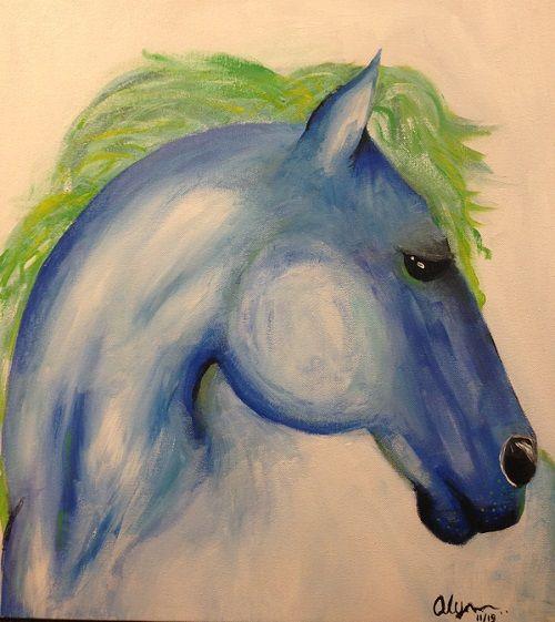 Blue Horse - AArt