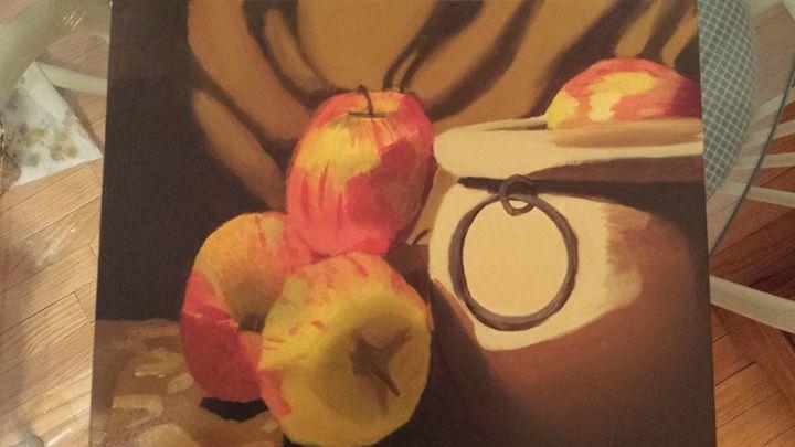 Apple still life - Natalie Gorski
