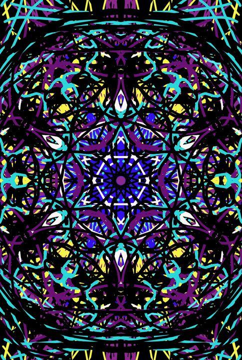 Purple burst - Keribleu Art