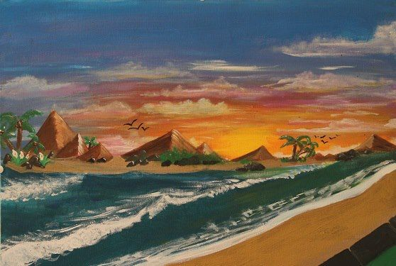 SUNSET ISLAND - Keribleu Art