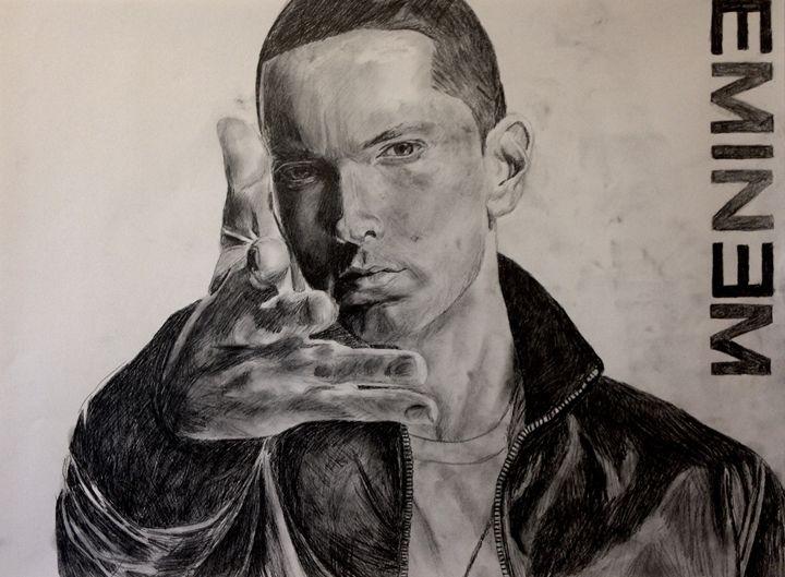 Eminem pencil sketch - NFC Art Gallery
