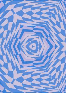 Floating Cube - Blue