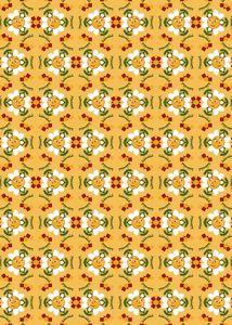 Pixel Flower Pattern