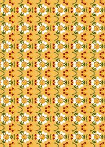 Pixel Flower Pattern - 2