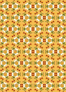 Pixel Flower Pattern - 3