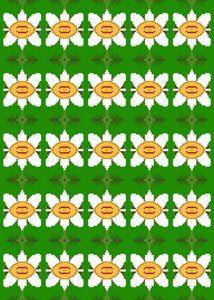 Pixel Flower Pattern - 4