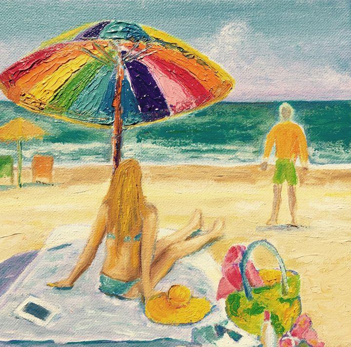 Enjoying the Beach - Patrycja Hauer-Ivey