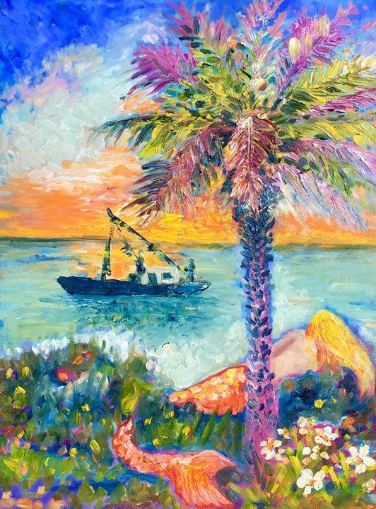 Sunset under a Palmtree - Patrycja Hauer-Ivey