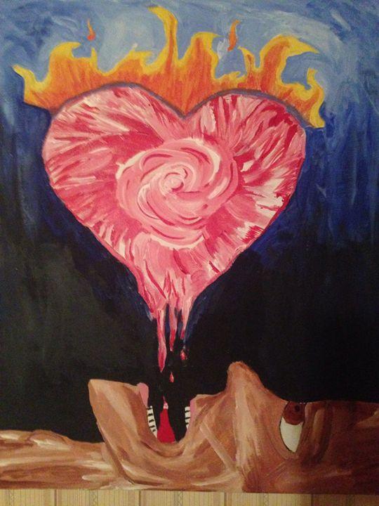 Burning heart - Leah Jenkins Gallery
