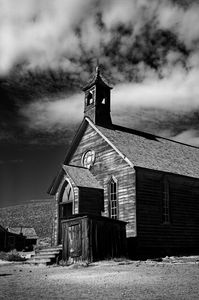 Old Church Bodie California, B&W - Steve Gadomski