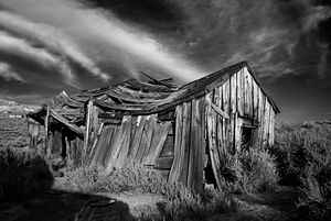 Old Shack Bodie California, B&W - Steve Gadomski