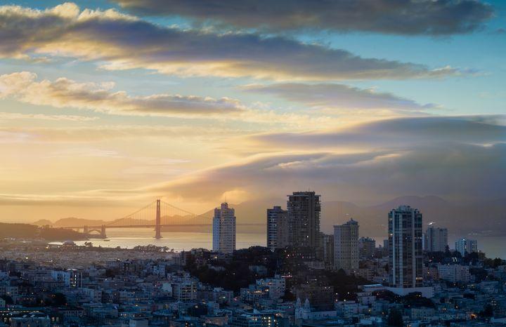 Russian Hill And The Golden Gate San - Steve Gadomski