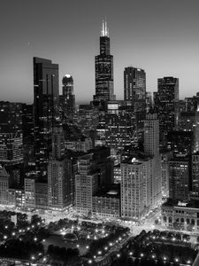 City Light Chicago BW