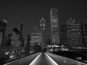 Chicago Lights BW