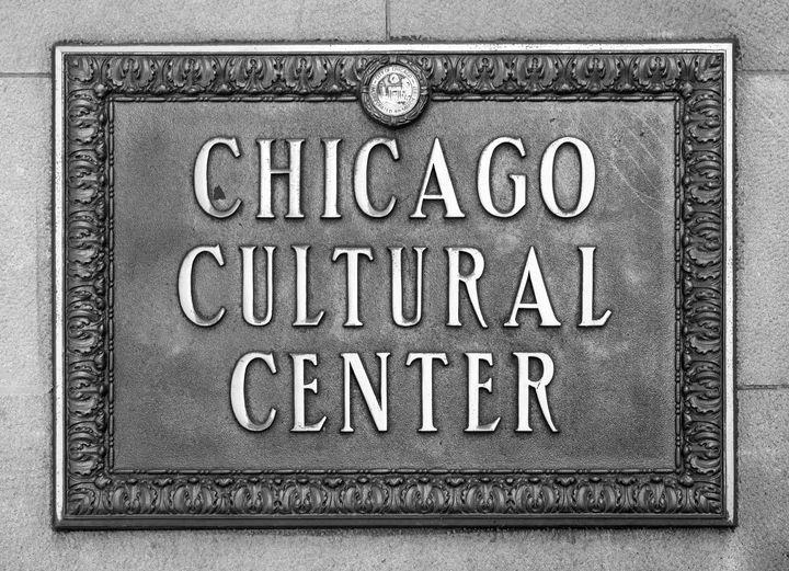 Chicago Cultural Center Plaque BW - Steve Gadomski