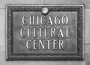 Chicago Cultural Center Plaque BW