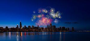 Chicago Lakefront Fireworks - Steve Gadomski