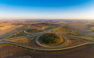 Highways I 39 and I 80 Cloverleaf Il