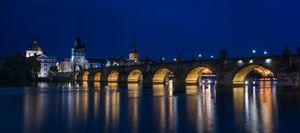 Night Over Charels Bridge Prague - Steve Gadomski